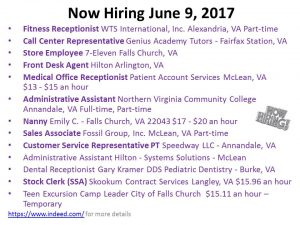 Now Hiring June 15, 2017