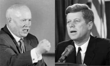 Image result for kennedy and khrushchev