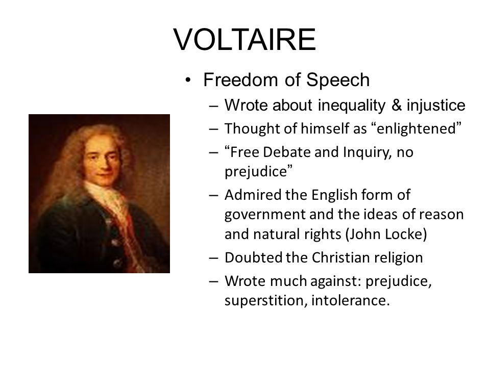 Image result for voltaire enlightenment ideas