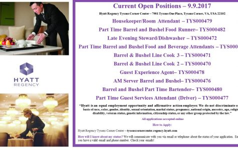 Hyatt in Tyson's Corner is Hiring
