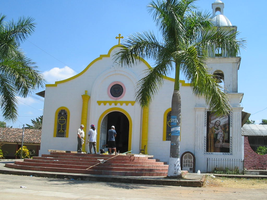 This is the church of my childhood. it looks better now as it shows the colors and stile of a Spanish mission