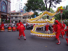 Traditional Dragon Dance (Photo credit: NguyenTrung)