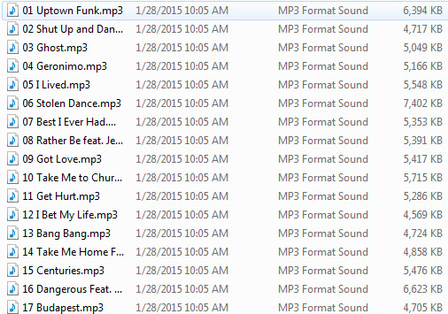 Playlist 2015-02-06 Modern