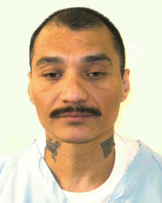 This undated photo provided by the Virginia Department of Corrections shows inmate Alfredo Prieto. Virginia is poised to execute Prieto, a serial killer, who claims he's intellectually disabled using lethal injection drugs from Texas because the state's supply of another controversial drug will expire the day before the execution is supposed to take place. (Virginia Department of Corrections via AP)